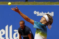 Немецкий младший Александра Zverev теннисиста Стоковая Фотография