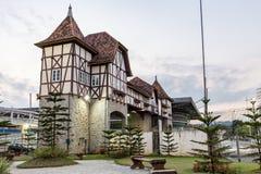 Немецкий парк деревни, Blumenau, Санта-Катарина стоковая фотография
