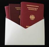 немецкий пасспорт Стоковые Фотографии RF