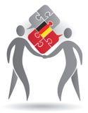 Немецкий переговор иллюстрация штока