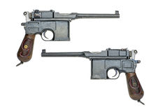 Немецкий пистолет c96 Стоковое Изображение