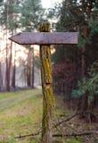 Немецкий путь указателя Стоковая Фотография