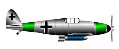 Немецкий самолет-истребитель WW2 иллюстрация вектора
