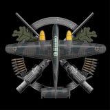 Немецкий самолет ww2 иллюстрация вектора
