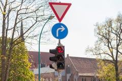 Немецкий светофор Стоковые Изображения