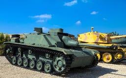 Немецкий сделанный разоритель танка Sturmgeschutz III захватил IDF от сирийских сил в 1967 Latrun, Израиль Стоковые Изображения RF