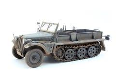 Немецкий трактор Sd.Kfz.10 D7 артиллерии WWII Стоковая Фотография