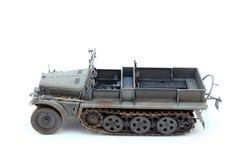 Немецкий трактор Sd.Kfz.10 D7 артиллерии WWII Стоковое фото RF