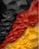 Немецкий флаг облаков дыма, иллюстрации вектора иллюстрация вектора