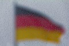 Немецкий флаг Стоковые Изображения