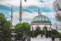 Немецкий фонтан в Sultanahmet в Стамбуле, Турции стоковое фото rf
