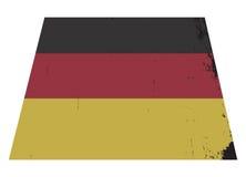 Немецкий флаг Grunged Стоковые Изображения RF