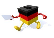 Немецкий шарж урны для избирательных бюллетеней Стоковое Фото