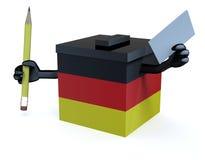 Немецкий шарж урны для избирательных бюллетеней Стоковые Фото