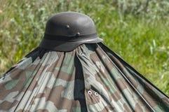 Немецкий шлем Второй Мировой Войны стоковые фотографии rf
