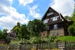 Немецкий Swabian дизайн домов Стоковое Изображение