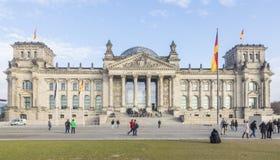 Немецкое здание Германского Бундестага немца национального парламента стоковое фото