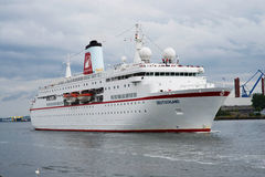 Немецкое роскошное туристическое судно Traumschiff Стоковое фото RF