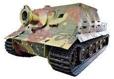 Немецкое тяжелое штурмовое орудие Sturmtiger изолировало Стоковое Изображение