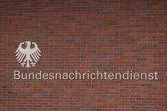 Немецкое федеральное bundesnachrichtendienst разума в Берлине Германии стоковое изображение rf