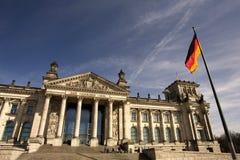 Немецкое Reichstag в Берлин Стоковое Изображение