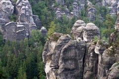 немецкое schweiz sachsische национального парка Стоковые Фотографии RF