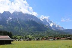 Немец Альпы во время лета Стоковое Фото