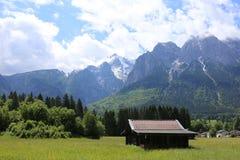 Немец Альпы во время лета Стоковые Фото
