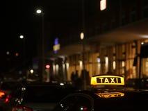 Немец знака такси Стоковая Фотография