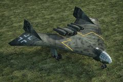Немец самолета бомбардировщика Arado E555 Стоковое фото RF