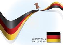 немец флага Стоковое фото RF