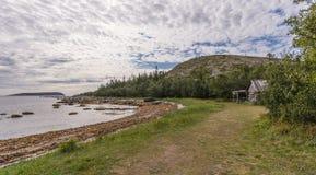 Немец Kuzov острова ландшафта с хатой Стоковое Фото