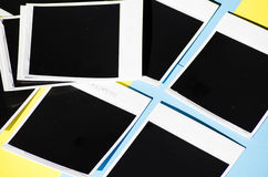 Немедленное фото на покрашенной предпосылке Стоковое Изображение RF