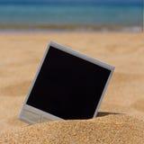 Немедленное фото на пляже Стоковые Изображения