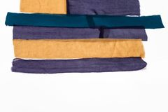 Немногие аранжированные прокладки тканей для шарфа заплатки Стоковое Изображение