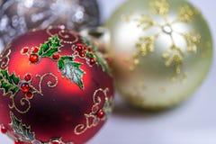 Немногие безделушки рождества Конец-вверх Стоковые Изображения RF