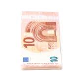 Немногие 5 изолированных примечаний евро Стоковые Изображения RF