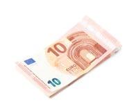 Немногие 5 изолированных примечаний евро Стоковое Изображение RF