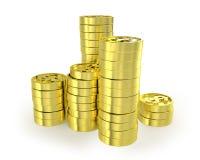 Немногие колонки монеток Иллюстрация штока