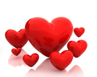 немногие сердца красные Иллюстрация штока