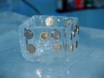 Немного большого и малого rouleau монеток Стоковые Фотографии RF