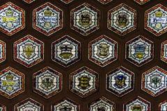 Немного винтажных гербов на темной предпосылке Стоковое фото RF