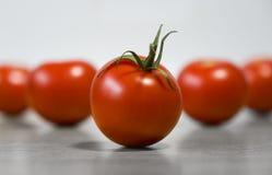 Немного красных зрелых томатов на таблице для здорового питания Стоковое Изображение RF