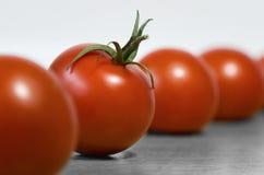 Немного красных зрелых томатов на таблице для здорового питания Стоковые Изображения