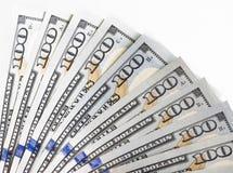 Немного 100 долларовых банкнот в бумажнике Стоковое Изображение