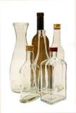 Бутылки для вина и духов. Стоковое Фото