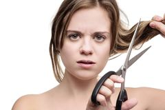 Ненавидеть как мои волосы смотрят Стоковые Фото