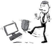 ненавистник компьютера иллюстрация штока