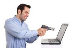 ненависть i компьютера мое Стоковое Изображение
