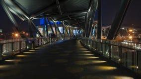 Ненастная дорога Рекы Jinsha ночи Стоковое Фото